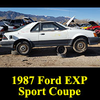 Junkyard 1987 Ford EXP Sport Coupe