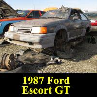 Junkyard 1987 Ford Escort GT