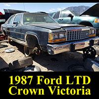 Junkyard 1987 Ford LTD Crown Victoria