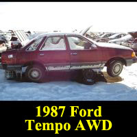 Junkyard 1987 Ford Tempo AWD
