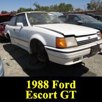 Junkyard 1988 Ford Escort GT