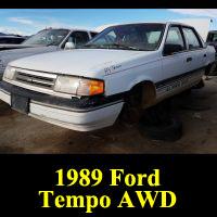 Junkyard 1989 Ford Tempo AWD
