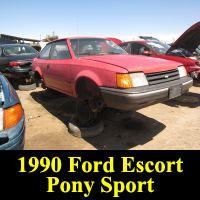 Junkyard 1990 Ford Escort Pony
