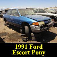 Junkyard 1991 Ford Escort Pony