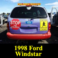 Junkyard 1998 Ford Windstar Ice Cream Truck