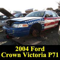 Junkyard 2004 Ford Crown Victoria P71