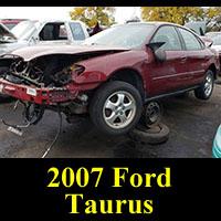 Junkyard 2007 Ford Taurus SE
