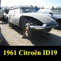 Junkyard 1961 Citroën ID19