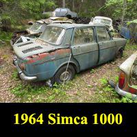 Junkyard 1964 Simca 1000