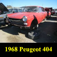 Junkyard 1968 Peugeot 404