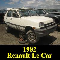 Junkyard 1982 Renault Le Car