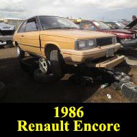 Junkyard 1985 Renault Encore