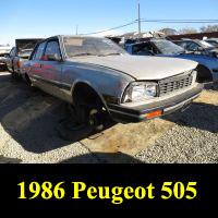 Junkyard 1986 Peugeot 505