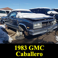 Junkyard 1983 GMC Caballero