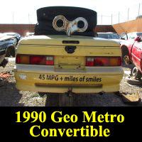 Junkyard 1990 Geo Metro Convertible