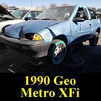 Junkyard 1990 Geo Metro XFi