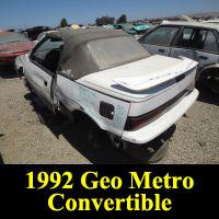 Junkyard 1992 Geo Metro Convertible