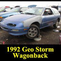 Junkyard 1993 Geo Storm wagon