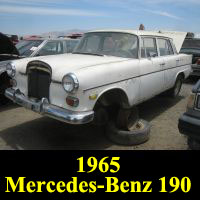 Junkyard 1965 Mercedes-Benz 190C