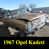 Junkyard 1967 Opel Kadett