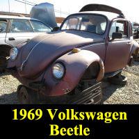 Junkyard 1969 Volkswagen Beetle