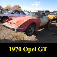 Junkyard 1970 Opel GT