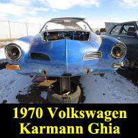 Junkyard 1970 Volkswagen Karmann Ghia