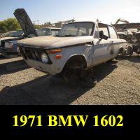Junkyard 1971 BMW 1600