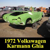 Junkyard 1972 Volkswagen Karmann Ghia