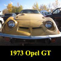 Junkyard 1973 Opel GT