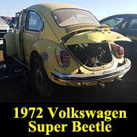 Junkyard 1972 Volkswagen Super Beetle