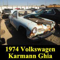 Junkyard 1974 Volkswagen Karmann Ghia Coupe