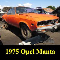 Junkyard 1975 Opel Manta