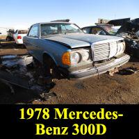 Junkyard 1978 Mercedes-Benz 300CD