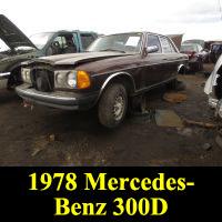 Junkyard 1978 Mercedes-Benz 300D