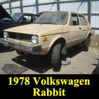 Junkyard 1978 Volkswagen Rabbit