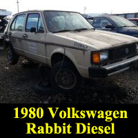 Junkyard 1980 Volkswagen Rabbit