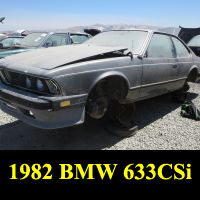 Junkyard 1982 BMW 633CSi