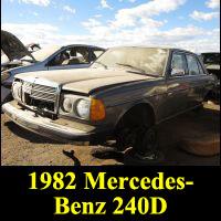 Junkyard 1982 Mercedes-Benz 240D