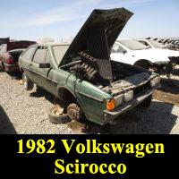 Junkyard 1982 Volkswagen Scirocco