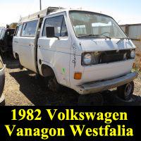 Junkyard 1982 Volkswagen Vanagon