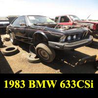 Junkyard 1983 BMW 633CSi