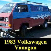Junkyard 1983 Volkswagen Vanagon