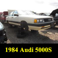 Junkyard 1984 Audi 5000S
