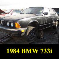 Junkyard 1984 BMW 733i
