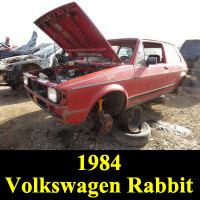 Junkyard 1984 Volkswagen Rabbit
