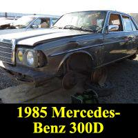 Junkyard 1985 Mercedes-Benz 300D