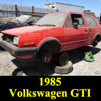Junkyard 1985 Volkswagen GTI