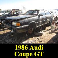 Junkyard 1986 Audi Coupe GT