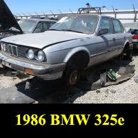 Junkyard 1986 BMW 325e